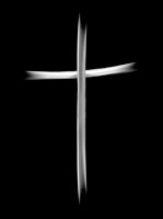 cross on black
